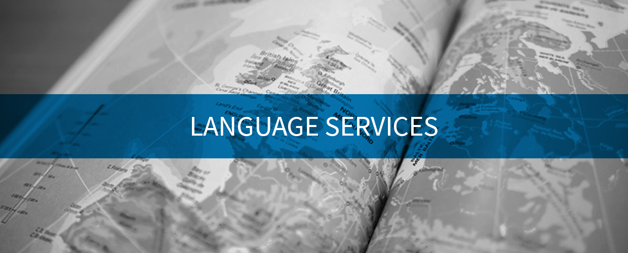 Language Services image of map of Europe
